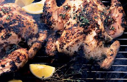 Mustard And Garlic Spatchcocked Chicken Recipe — Dishmaps
