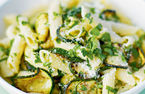 Penne with courgettes and parmesan