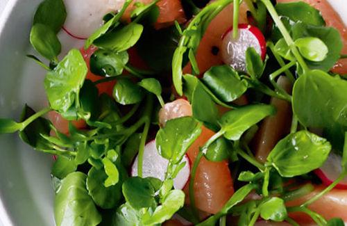 Peppery watercress, citrus and radish salad recipe
