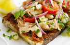 Tuna canellini bean on bread