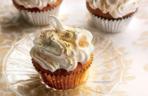 Gold and silver glitz cupcakes