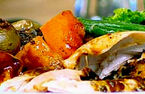 Roast chicken butternut squash