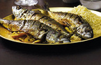 Baked mackerel with couscous