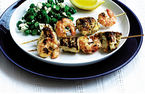 Chicken and prawn skewers