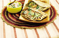 Haloumi and coleslaw pittas