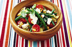 Green bean and feta pasta