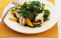 Chicken with mango salad