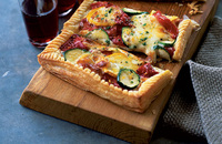 Courgette and mozzarella tart