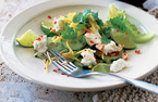 Feta, mango and lime salad