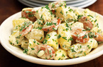 German sausage and potato salad