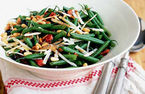 Green bean and pine nut salad