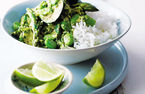 Green Thai curry with greens