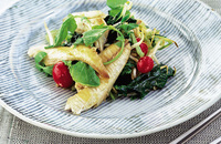 Grilled mackerel salad with miso