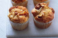 Peach and amaretti muffins