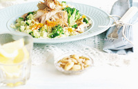 Mackerel and couscous salad