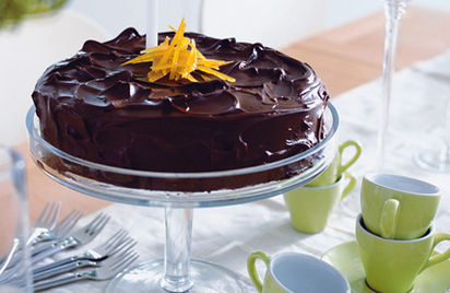 Orange, almond and chocolate cake