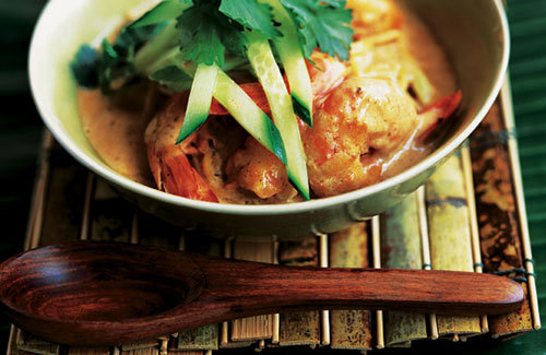 chicken laksa soup. Easy prawn laksa soup recipe