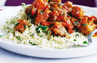 Aubergine and chestnut tagine