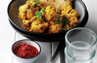 Cauliflower and coconut dhal