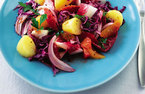 Potato, cabbage and orange salad