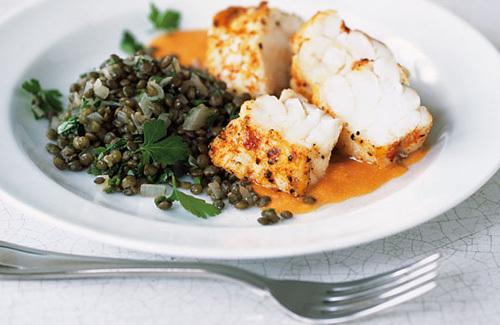 Paprika-roasted monkfish with romesco sauce recipe