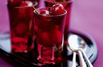 Spiced cherries in vodka