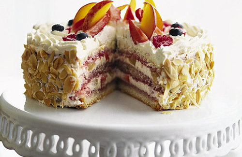 Summer fruit gateau