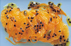 Orange and passion fruit salad