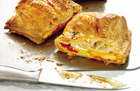 Hot Camembert pastry parcels