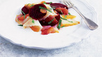 Halibut and beetroot salad