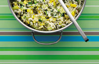 Courgette and pumpkin seed rice