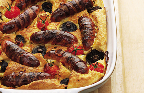 Brunch style toad in the hole