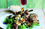 Lamb, mint and halloumi kebabs