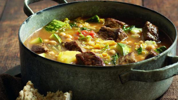 Spiced lamb and marrow stew recipe