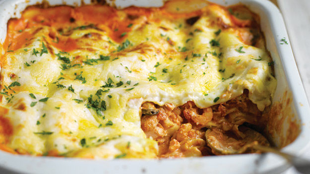 How to cook in high heels: Seafood lasagne