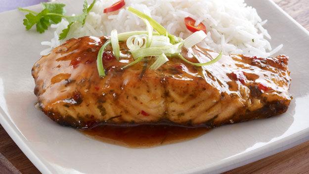 salmon, seafoods