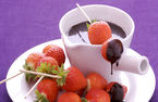 Nick Nairns: Strawberry kebabs with chocolate fondue