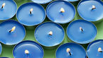 Blue Candles. How To Remove Candlewax