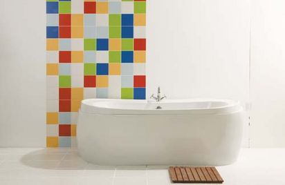 wall tile designs get the wow factor in the bathroom with wall tiles