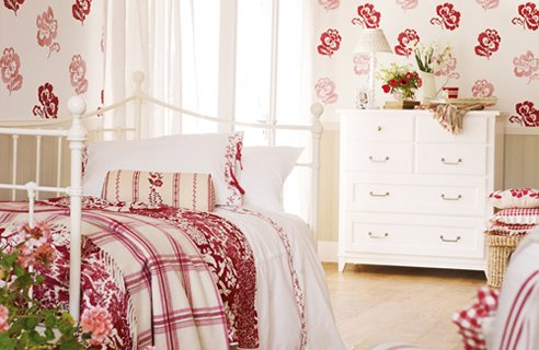25 patterned bedroom design ideas channel4 4homes for Bedroom ideas laura ashley