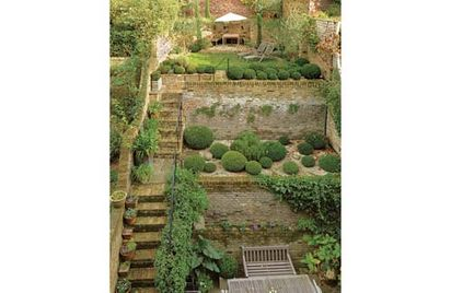 Ideas for landscaping sloping gardens pdf for Small sloping garden designs