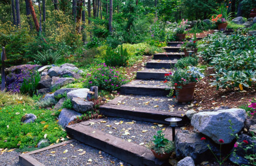 1000 images about steep garden on pinterest retaining for Pictures of garden steps designs