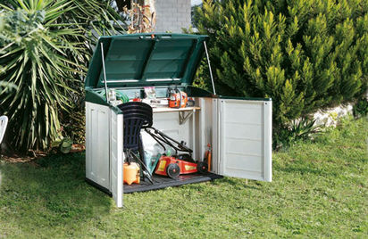 Lawn Storage Bench Do It Yourself Greenhouse Ideas Mower
