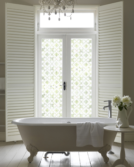 Window film frosted glass designs channel4 4homes for Channel 4 bathroom design ideas