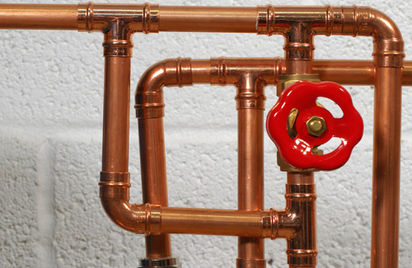 Copper pipes are very durable.