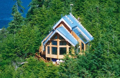Kit homes manufacturers log cedar homes channel4 4homes for Kit homes alaska