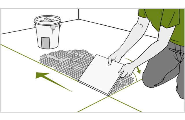 How to do a tile floor