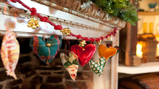Heart shaped garland