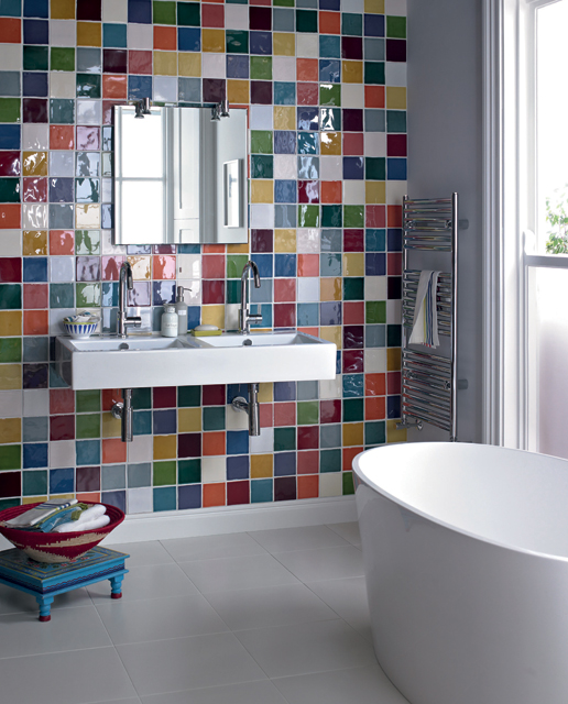 Multi coloured tiles, Fired Earth