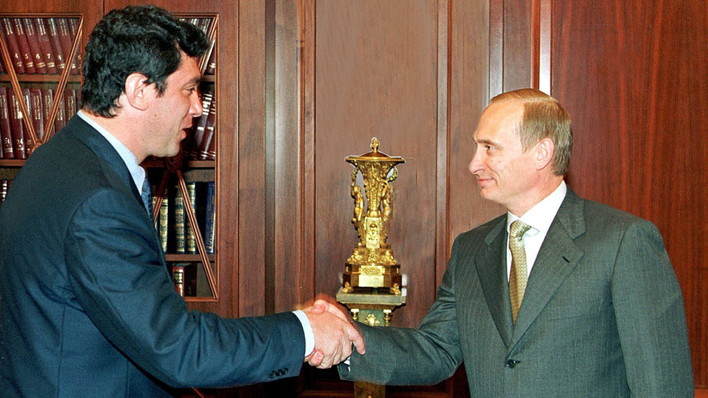 Boris Nemtsov with Vladimir Putin (Getty Images)